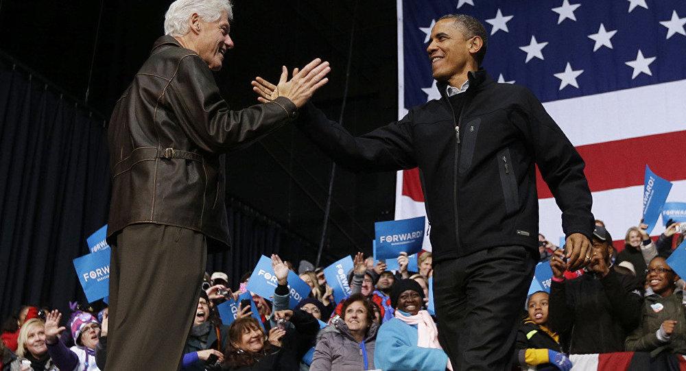 Клинтон и Обама