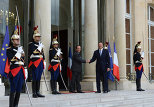 Президент Азербайджана Ильхам Алиев и президент Франции Франсуа Олланд