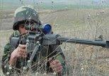 Азербайджанский солдат на позиции