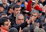 Поствыборный митинг в Армении