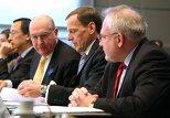 Сопредседатели Минской группы ОБСЕ Игорь Попов (Россия), Жак Фор (Франция), и Ян Келли (США)