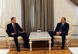 Встреча Ильхама Алиева с замдиректора Департамента Ближнего Востока и Центральной Азии МВФ Юху Кахкененом