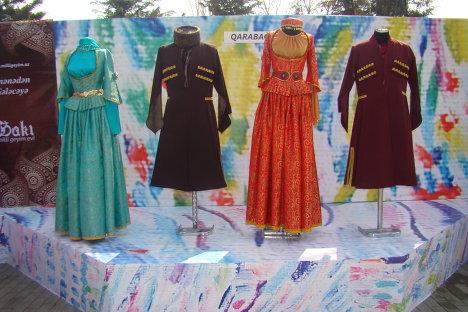 Выставка национальной одежды, организованная по случаю Новруз байрам