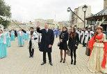 Президент Азербайджана Ильхам Алиев с супругой Мехрибан Алиевой на празднестве по случаю Новруз байрам