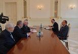 Встреча президента Азербайджана Ильхама Алиева с сопредседателями Минской группы ОБСЕ
