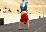 Участник от Азербайджана на Евровидении-2013 Фарид Мамедов на стадионе Панатенаикос (Афины)