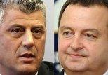 Премьер-министры Сербии и края Косово Ивица Дачич и Хашим Тачи
