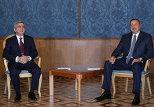 Президент Азербайджана Ильхам Алиев и президент Армении Серж Саргсян