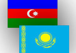 Флаги Казахстана и Азербайджана