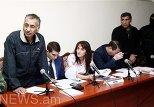 Шахбаз Гулиев и Дильгем Аскеров в зале суда