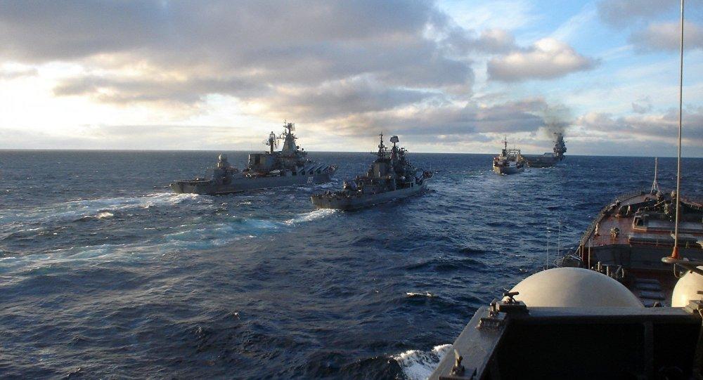 учения военных кораблей