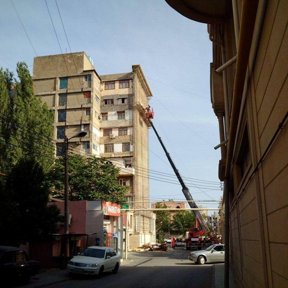 Nərimanov rayonunda üzlük sökülməsi