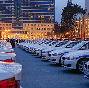 полицейские машины в Баку; ГАИ