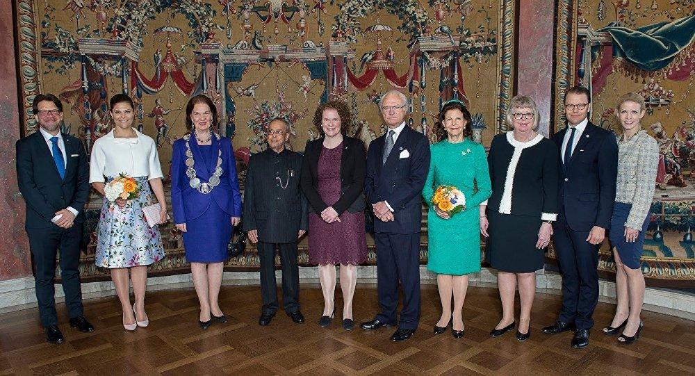Hindistan prezidenti və İsveç kral ailəsi