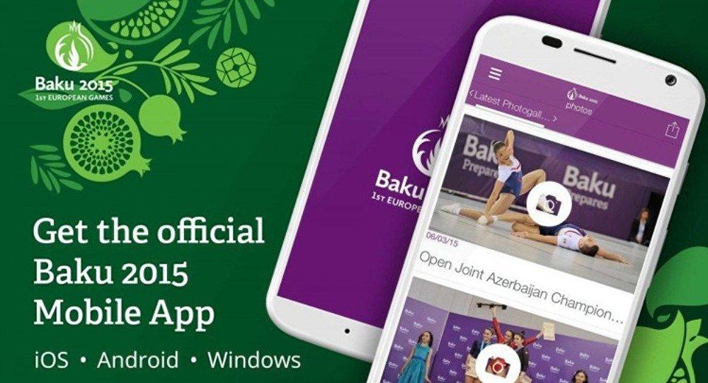 Bakı 2015-in alov səhifəsinin mobil versiyası