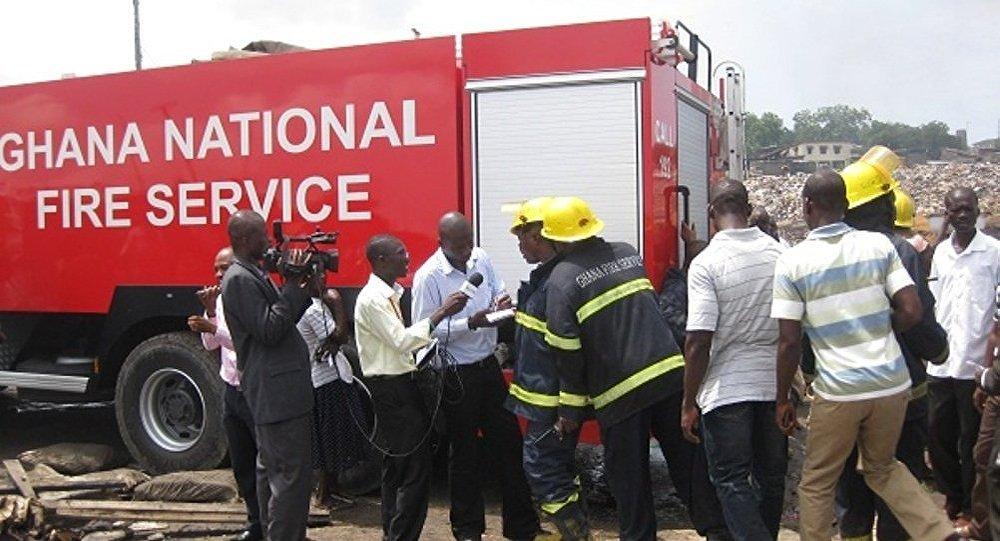 Пожар в Гане