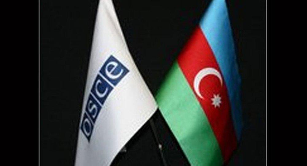 ATƏT və Azərbaycan bayraqları