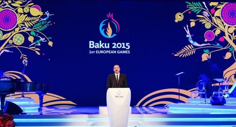 İlham Əliyev -Avropa Oyunları- rəsmi qəbul