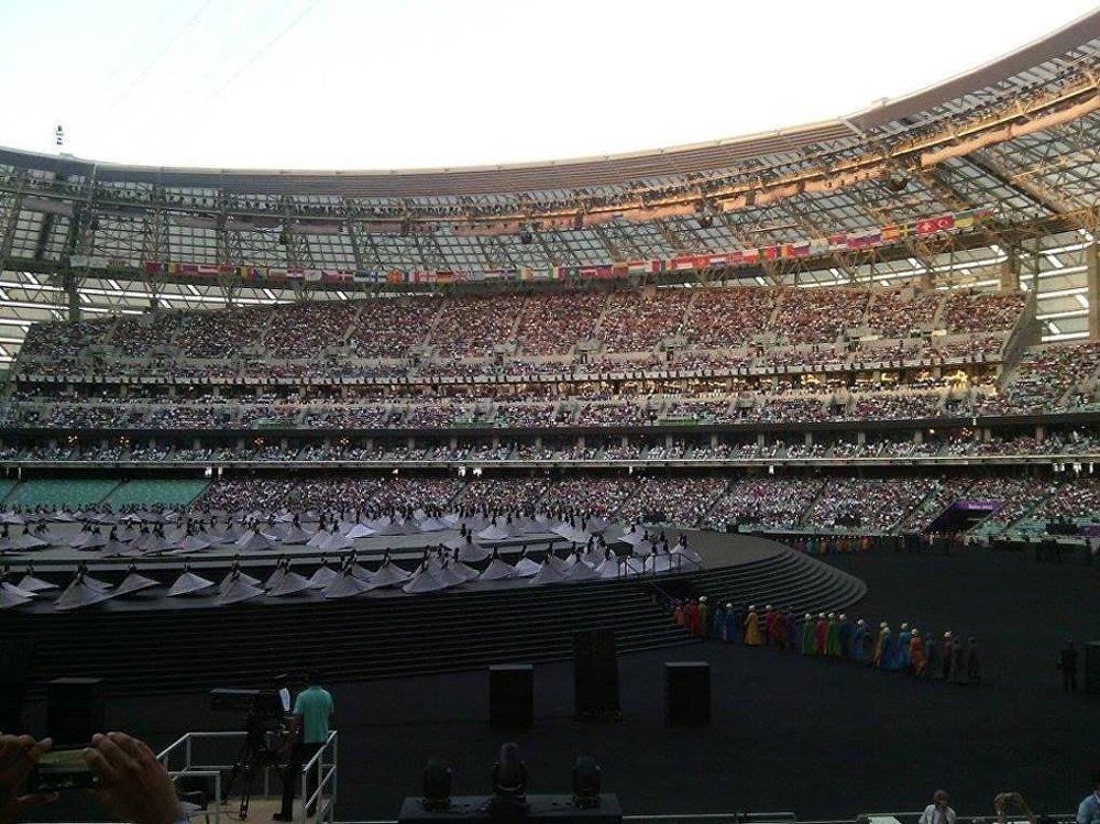 Бакинский Олимпийский Стадион - церемония открытия первых Европейских игр