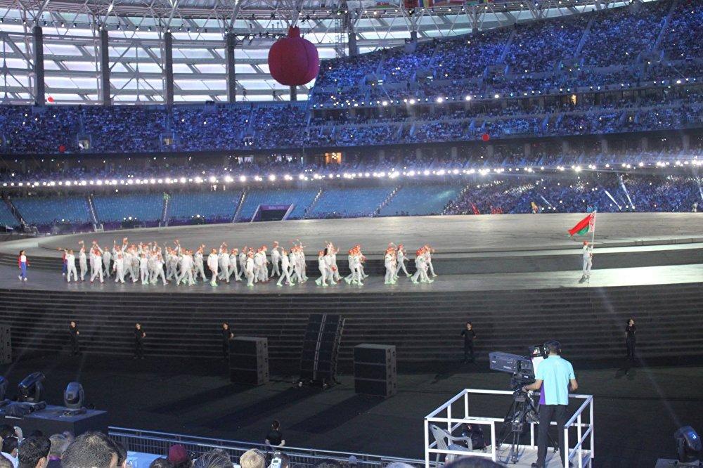 Парад наций на Бакинском Олимпийском стадионе