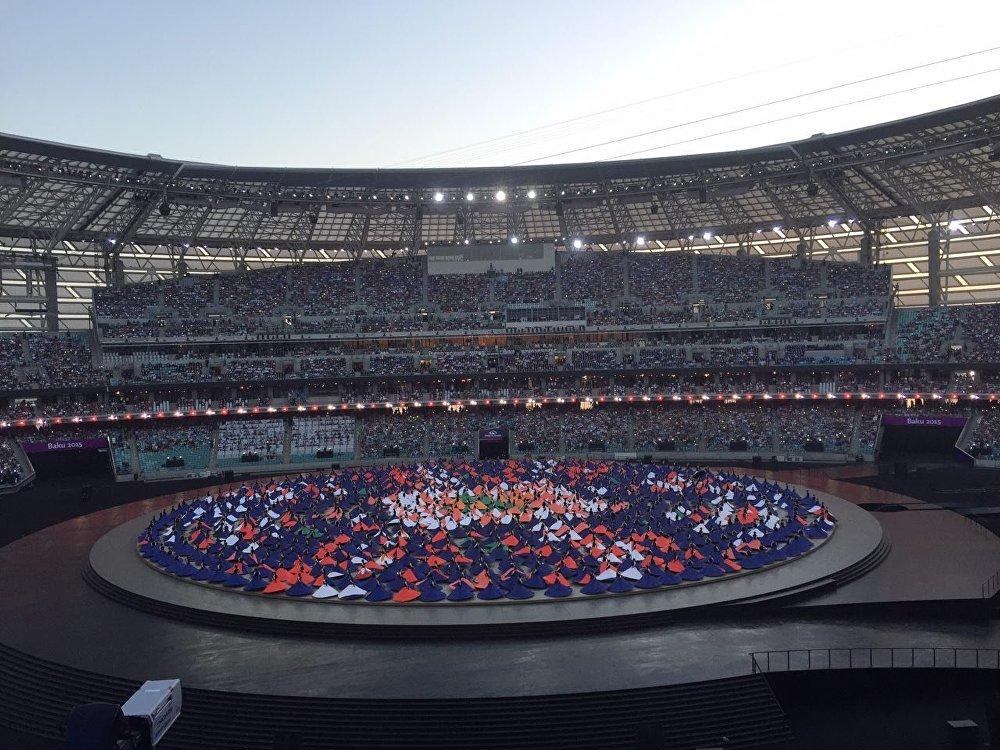 Бакинский Олимпийский стадион - Церемония открытия Евроигр
