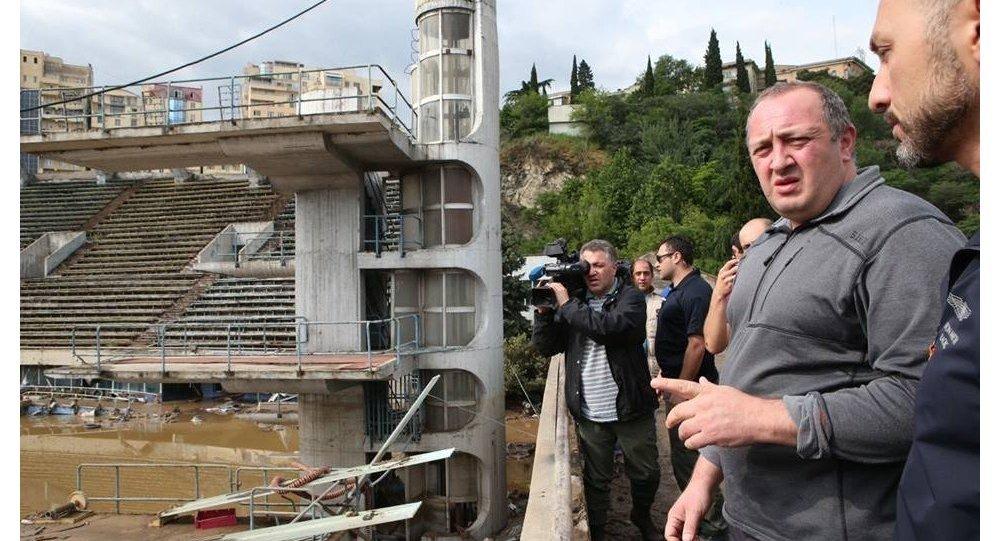 Gürcüstan prezidenti daşqınlar baş verən ərazidə
