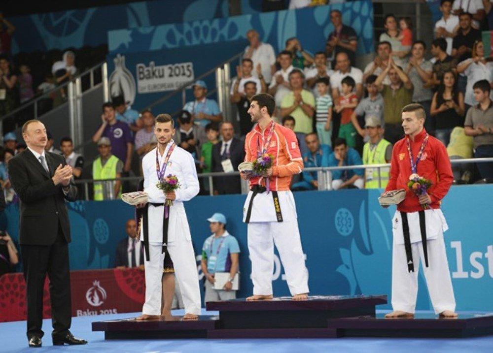 Президент Азербйджана на церемонии награждение победителей Евроигр
