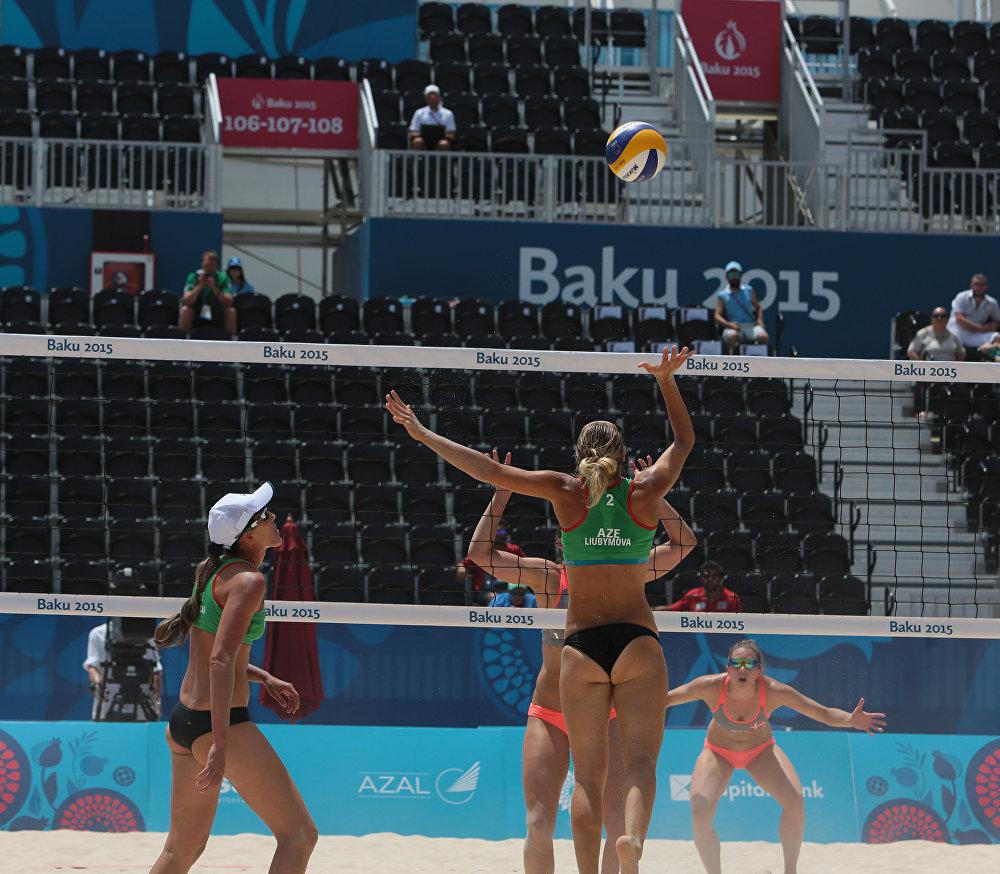 В рамках Евроигр прошли соревнования по пляжному волейболу