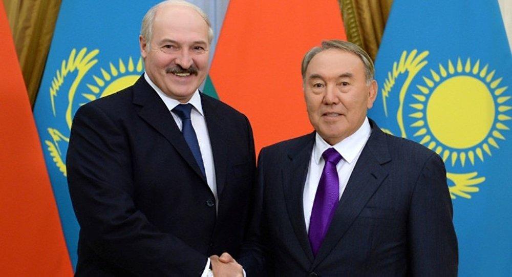 Aleksandr Lukaşenko və Nursultan Nazarbayev