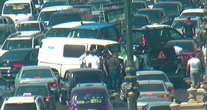 Пробка на проспекте Гейдара Алиева