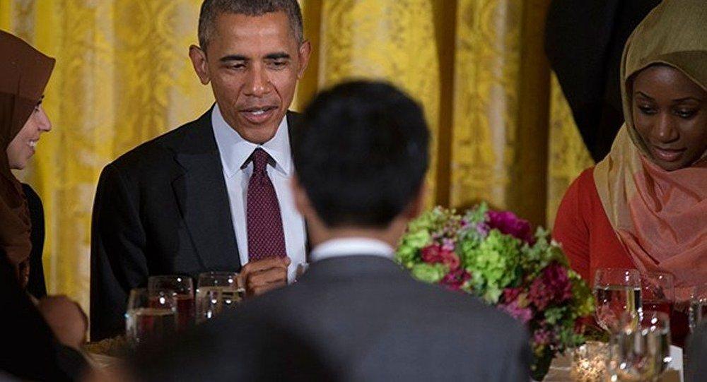 Barak Obama iftarda