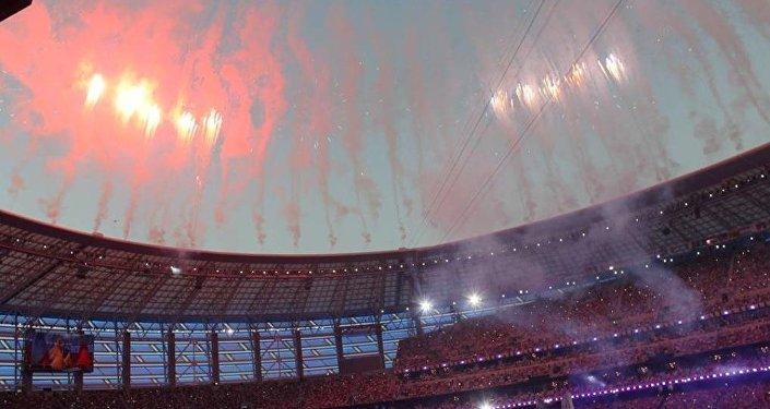 Церемония закрытия первых Европейских игр