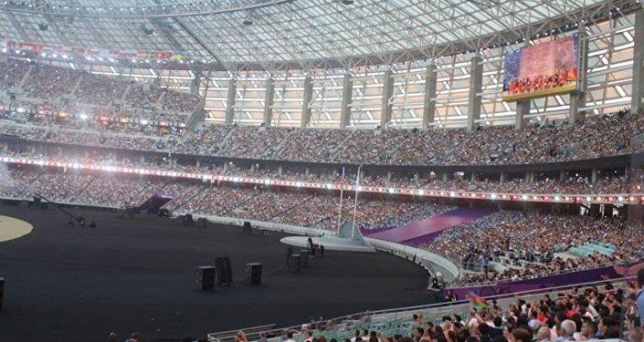 Церемония завершения Евроигр - Бакинский Олимпийский стадион