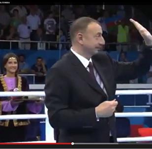 Ильхам Алиев попросил не освистывать армянского спортсмена.