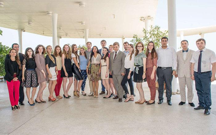 Лейла Алиева на встрече с российскими студентами