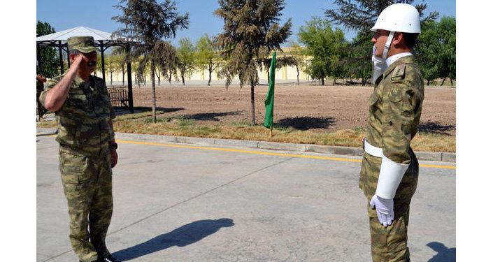 Министр обороны АР Закир Гасанов принял участие в открытии военной части, расположенной в прифронтовой зоне.