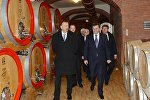 Ильхам Алиев принял участие в открытии в Габале завода по переработке винограда Aspi Winery OOO Aspi-Agro.