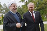 Vladimir Putin və Həsən Rohani