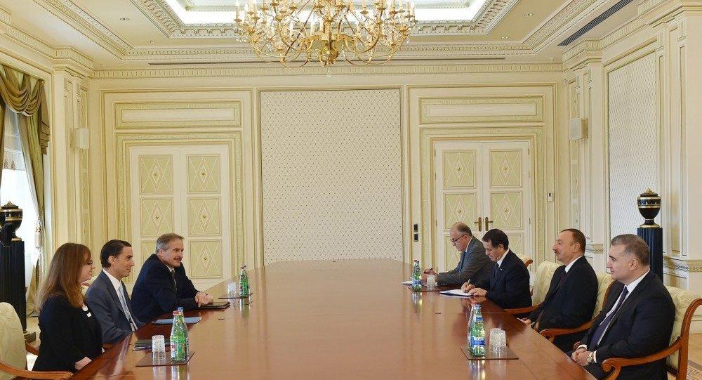 Azərbaycan prezidenti İlham Əliyevin ABŞ Dövlət Departamentinin nümayəndələri ilə görüşü