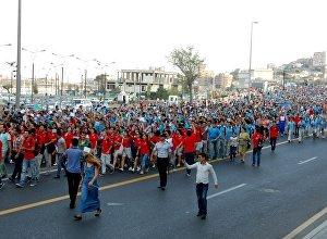 Парад волонтеров первых Европейских игр в Баку