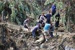 Устранение последствий наводнения в Тбилиси