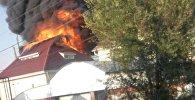 Место ликвидации боевиков в Бишкеке