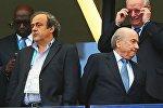 Mişel Platini və Zepp Blatter
