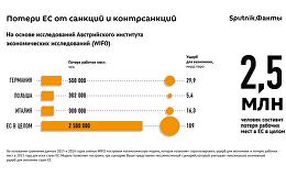 Европейский союз несет большие потери от санкций против РФ