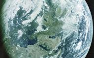 Планета Земля - вид с космоса