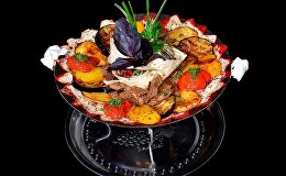 Блюдо на садже