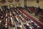 Саакашвили, Ющенко и Ильвес в парламенте Грузии