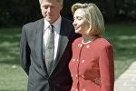 Билл Клинтон с женой