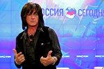 Пресс-конференция американского рок-музыканта Джо Линна Тернера