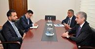 Вице-премьер Азербайджана Али Ахмедов, посол Великобритании в Азербайджане Ирфан Сиддиг